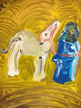 le bédouin et  BB chameau