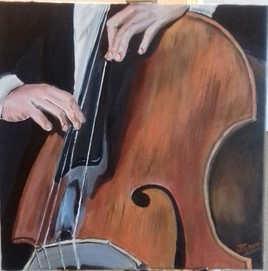 Le contrebassiste de jazz