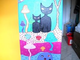 Tableau des deux chats