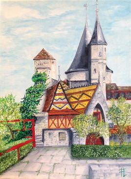 Chateau de La Rochepot en Bourgogne