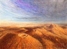 """""""Chaîne des Puys 23 """" - Peinture paysage"""