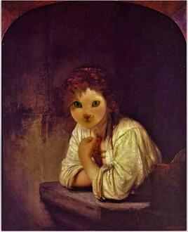 fille à la fenêtre de Rembrandt ..revisitée