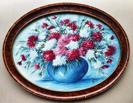 Aquarelle bouquet d Œillets