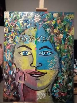 Retouchée, peinture femenitude