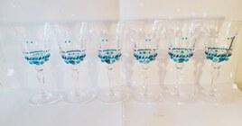 6 verres peints à la main