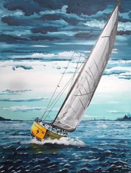 voilier jaune