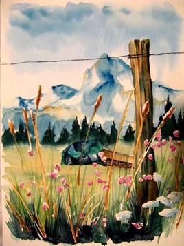 Les Alpes champêtre