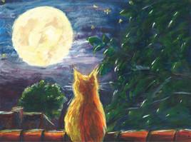 aubade à la lune