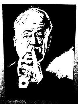 Portrait de Alfred Hitchcock