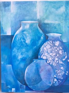 Les pots bleusE