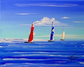 bateau à l'horizon