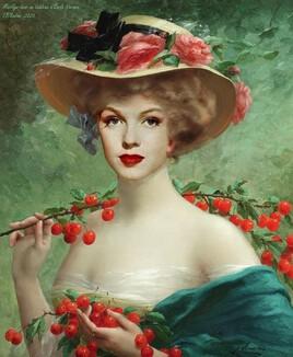 le temps des cerises .. avec Marilyn qui revisite Emile Vernon ..