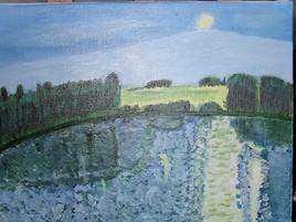 Peinture Lac proche de Limoges