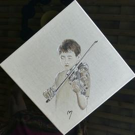 Jeune Violoniste au claire de Lune