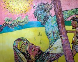 Jesus sur le mont des oliviers