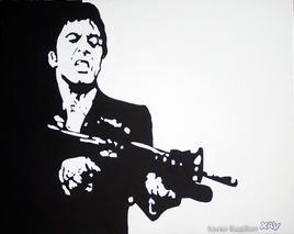 Al Pacino dans Scarface par Xavier Buaillon