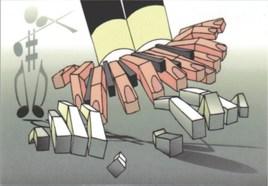 Piano qui joue des doigts
