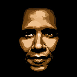 Portrait de Barack Obama Pop art