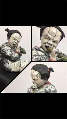 Mangeuse de maïs raku