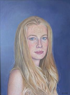 Portrait jeune fille blonde