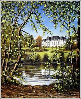 Château de Lormoy Korian à Longpont-sur-Orge ( peint sur le motif )