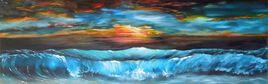 vagues bleus sur la plage