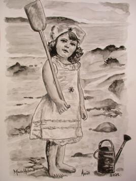 Eponine à la mer
