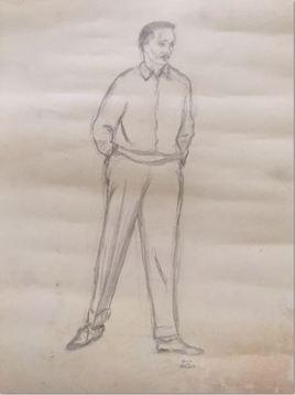 D115 Autoportrait Texier de Pélussin artiste peintre