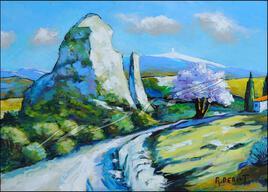 Le rocher vers le Ventoux