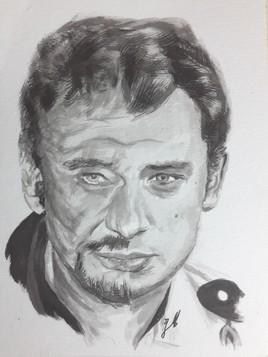 Johnny Hallyday 1964/2014 (encre de chine)