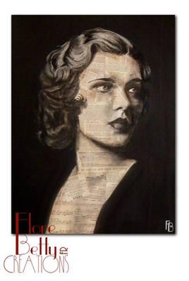 Tableau, portrait de Drucilla Strain 1930