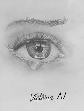 """""""Le chagrin"""" par Victoria , 10 ans"""