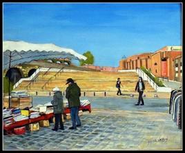 Place du marché des Ulis, commande pour la carte des vœux .