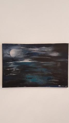 Au large d'un lune pleine