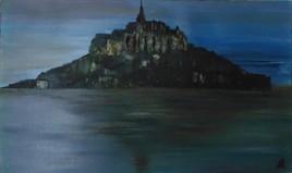 Soirée au  Mont st Michel