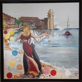 Couple dansant à Collioure