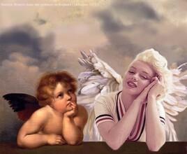 Marilyn en compagnie d'un chérubin de Raphael :)