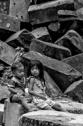 Portraits d'Asie 2 (Beng Mealea - Angkor - Cambodge) - tirage dibond® 40 x 60 cm