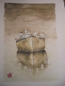 barque sur l etang