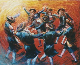 Rabbins qui dansent