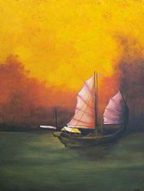 Barque en Mer de Chine