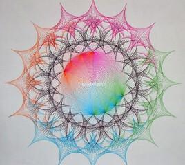 dentelle géométrique..