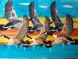 vol d'oies sauvages