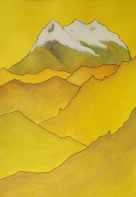Illimani en jaunes