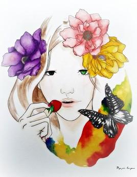 femme fraise