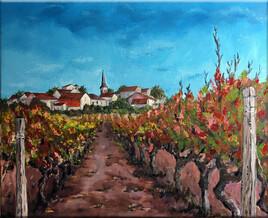 dans les vignes de Gaillac...  2020 81*65 cm