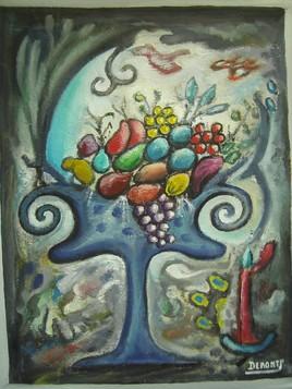 Le vase de fruits