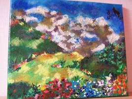 montagnes fleuries