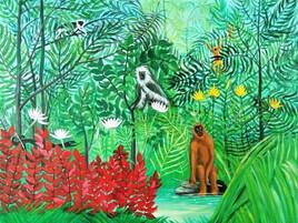 jungle d'après le Douanier Rousseau
