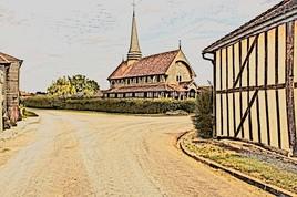 Eglise de Lentilles dans l'Aube